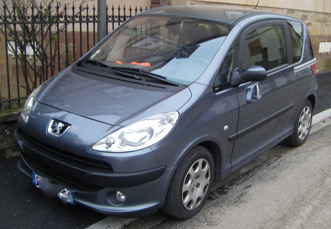 Peugeot 1007 amenagee Kempf